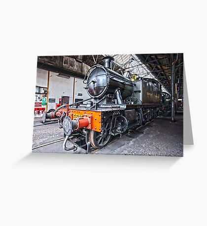Steam Locomotive HDR Greeting Card