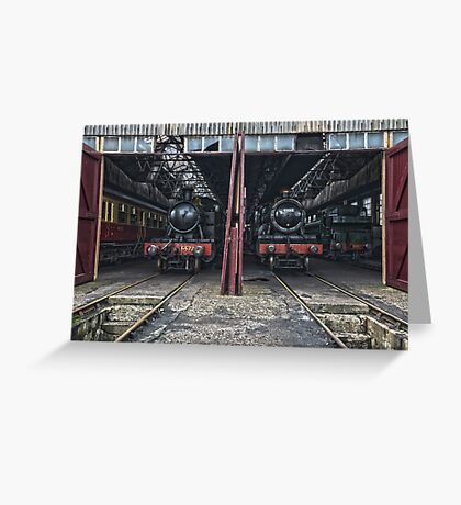 Steam Locomotive HDR IV Greeting Card