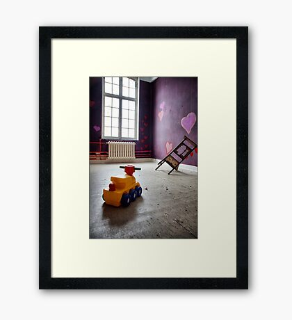 deserted kidsroom Framed Print