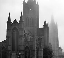Foggy Morning in Ghent by UrsulaRodgers