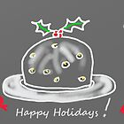 Christmas Pud Greetings by Janys Hyde