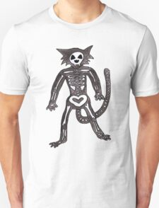 Halloween Skeleton Cat Unisex T-Shirt