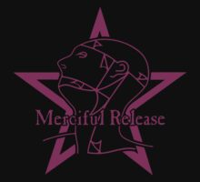 The Sisters Or Mercy - Merciful Release Logo (Purple on Black) by James Ferguson - Darkinc1
