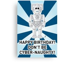 A Doctor Who themed Cyberman Card 2a Canvas Print