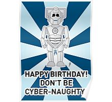 A Doctor Who themed Cyberman Card 2a Poster