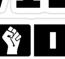 Will CODE for bandwidth - Black on White Design for Online Addicts Sticker