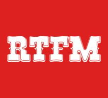 RTFM - Western Style White Font Design for Coomputer Geeks One Piece - Short Sleeve