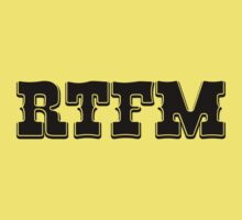 RTFM - Western Style Black Font Design for Coomputer Geeks One Piece - Short Sleeve