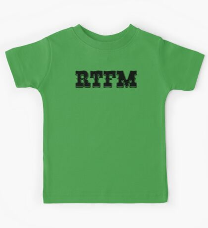 RTFM - Western Style Black Font Design for Coomputer Geeks Kids Tee