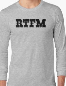 RTFM - Western Style Black Font Design for Coomputer Geeks Long Sleeve T-Shirt