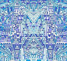 Deep Blue Three by AndyWorthyArt