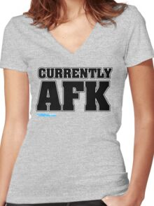 Currently AFK Women's Fitted V-Neck T-Shirt