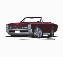 Pontiac GTO (1967) Convertible Maroon by Richard Yeomans