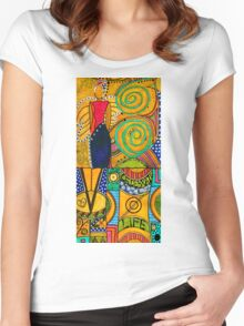 The Angel SPARKLE Celebrates LIFE Women's Fitted Scoop T-Shirt