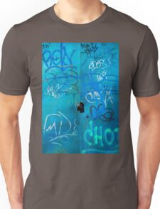 Blue Punk Style Street Graffiti Unisex T-Shirt