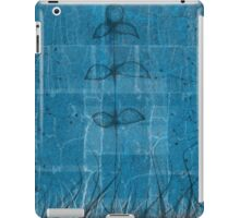 Little blue flower, field, tree, night iPad Case/Skin