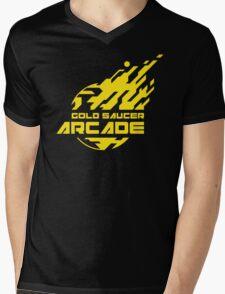 GOLD SAUCER ARCADE Mens V-Neck T-Shirt