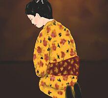 Kneeling Geisha by Sarah Countiss