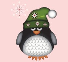 Cute Green Hat Baby Penguin Kids Clothes