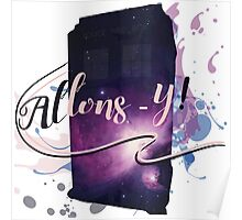 Tardis' Allons-y! Poster