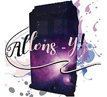 Tardis' Allons-y! Photographic Print