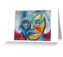 The Genius of Andy Warhol Greeting Card