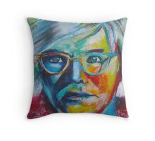 The Genius of Andy Warhol Throw Pillow