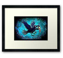 Crow Stealing an Eye Framed Print