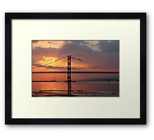 Sunset at the Forth Road Bridge Framed Print
