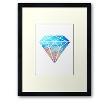 galaxy diamond Framed Print