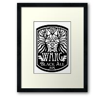 WARG Black Ale Label Framed Print