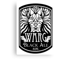 WARG Black Ale Label Canvas Print