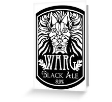 WARG Black Ale Label Greeting Card