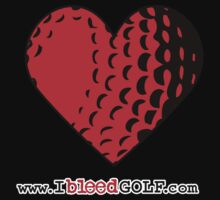 IBG Heart Golf Ball Tee-shirt by ibleedgolf