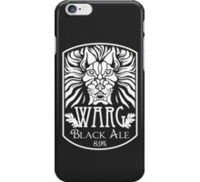 WARG Black Ale Label iPhone Case/Skin