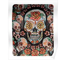 skull with flowers Poster