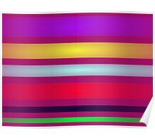 Stripes Art Horizontal Poster