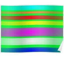 Stripes Art Green Poster