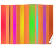 Vertical Stripes Art Horizontal Poster