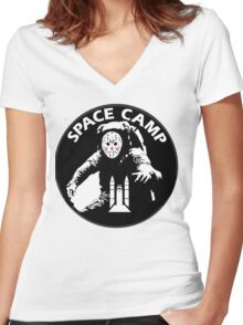 JASON - friday the 13th space camp Women's Fitted V-Neck T-Shirt