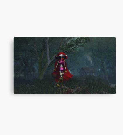 Little Red Robo Hood Canvas Print