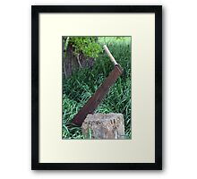 Two Person Cross Cut Saw Framed Print