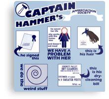 Captain Hammer's Appreciation Society Metal Print