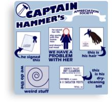 Captain Hammer's Appreciation Society Canvas Print