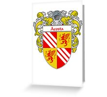Acosta Coat of Arms/Family Crest Greeting Card
