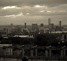liverpool skyline from Everton View by Debra Kurs