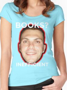 Books are Inefficient Women's Fitted Scoop T-Shirt