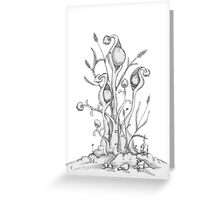 Podders original pen and ink Greeting Card
