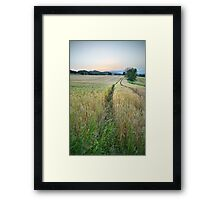 Sunset over the countryside Framed Print
