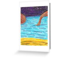 OilPastelBeach Greeting Card